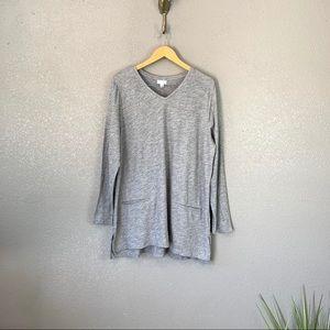 NEW J. Jill long sleeve knit tunic top size XL